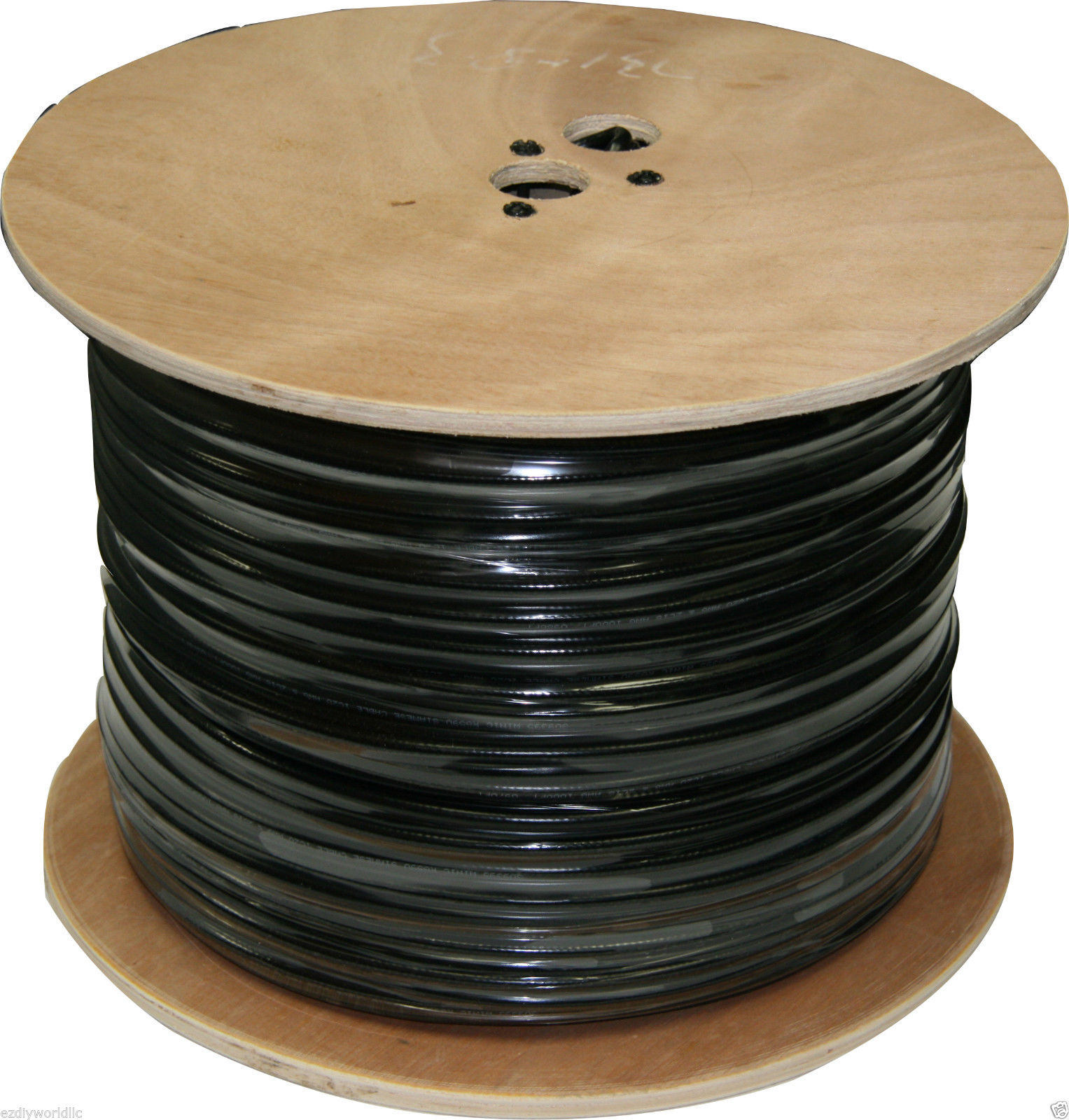 Solid Copper Core 1000FT RG59 Siamese Cable 18/2 Wire 95% BraidW
