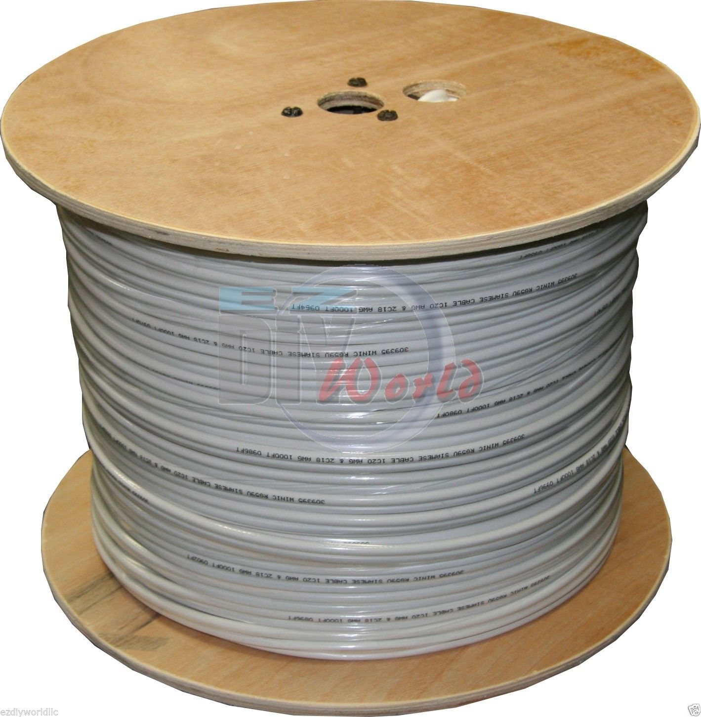 1000 ft RG59 Coax Siamese CCTV Cable Video & Power ETL Listed-W