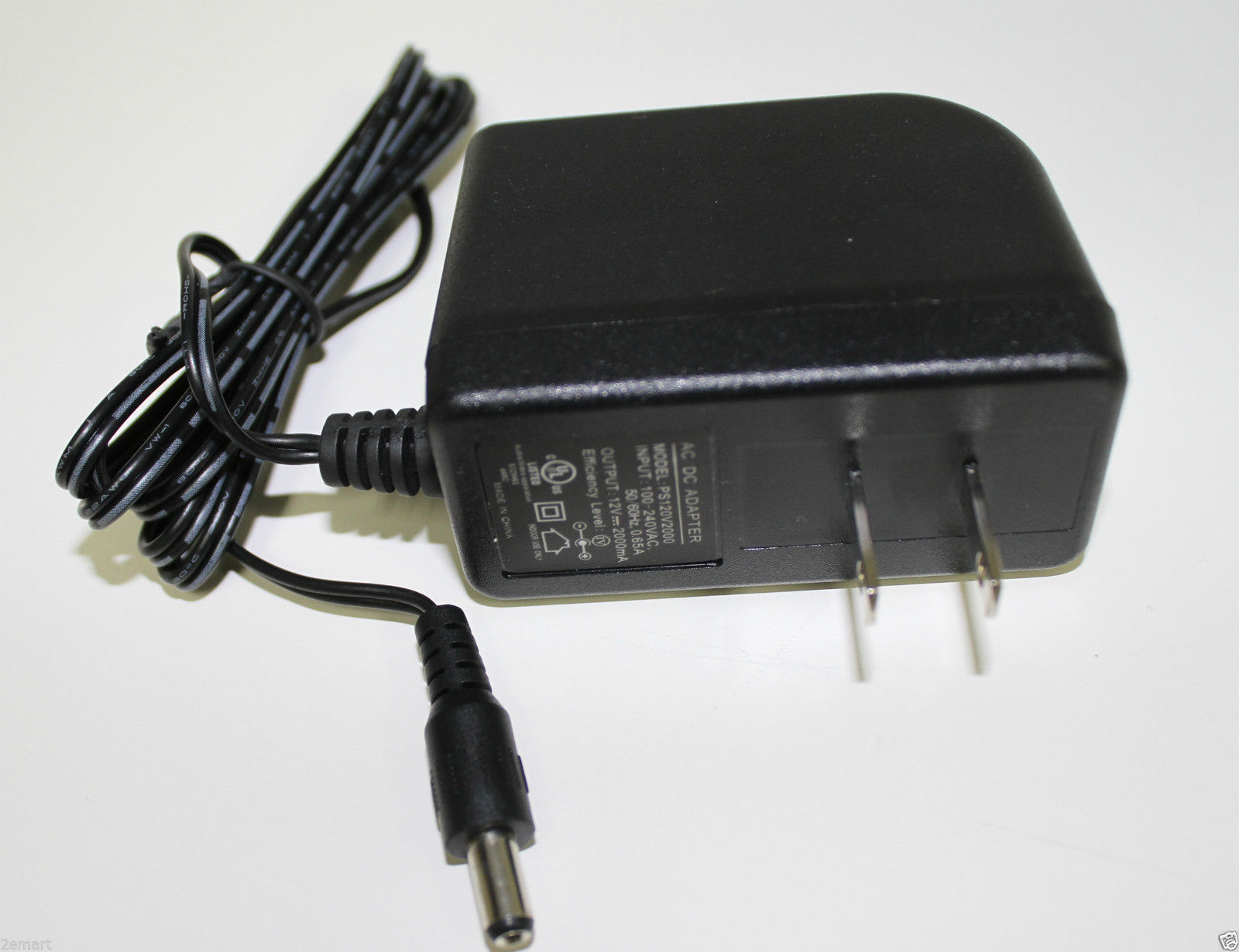 12V DC 2A (2000mA) Security Camera Power Supply Adapter