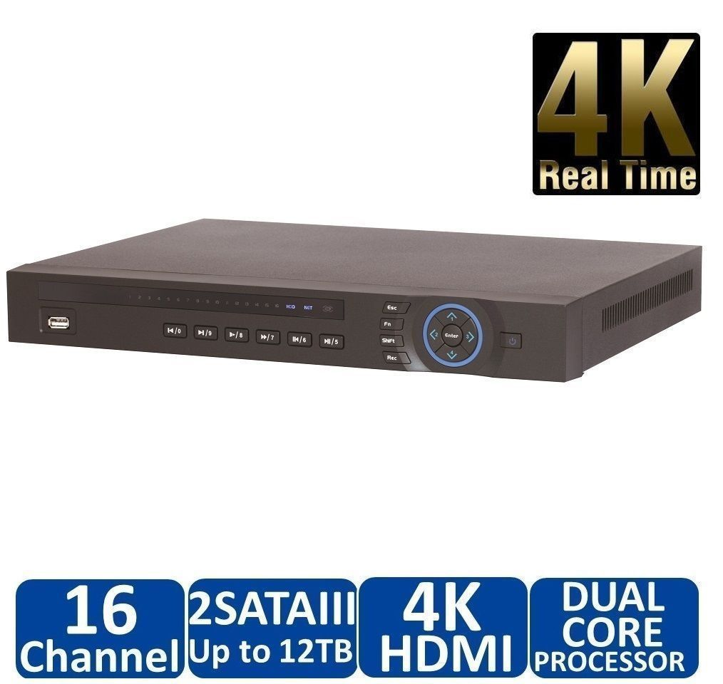 Dahua NVR4216-16P-4KS2 16Channel NVR with 16 POE