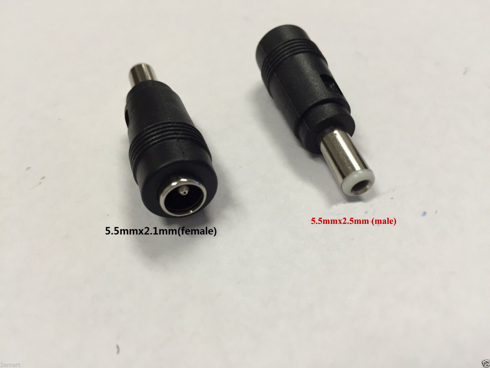 DC Power 5.5x2.5mm Male Plug to 5.5x2.1mm Female Jack Adapter