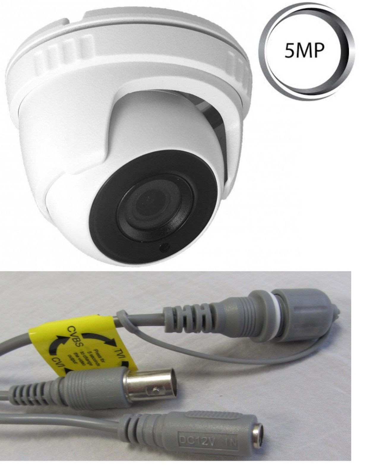 Matrix IR Turret Dome Camera HD-TVI 5MP(2560x1944) 2.8mm Wide
