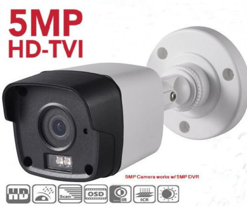 5MP HD-TVI IR Bullet Camera 3.6mm Fixed Lens BNC Output 4 in one