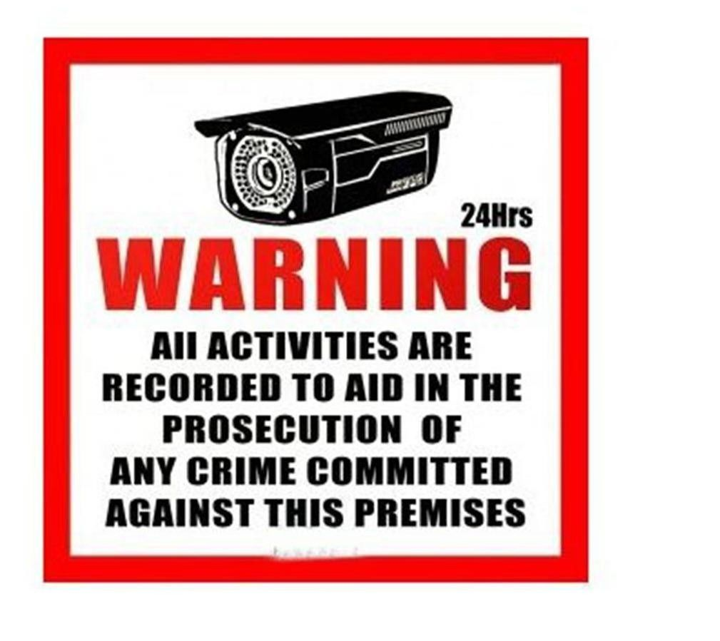 CCTV WARNING SECURITY SURVEILLANCE SIGN CAMERA ENGLISH-S