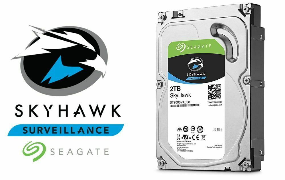 2TB Hard Drive 7200 Rpm For CCTV Security Camera DVR NVR Seagate